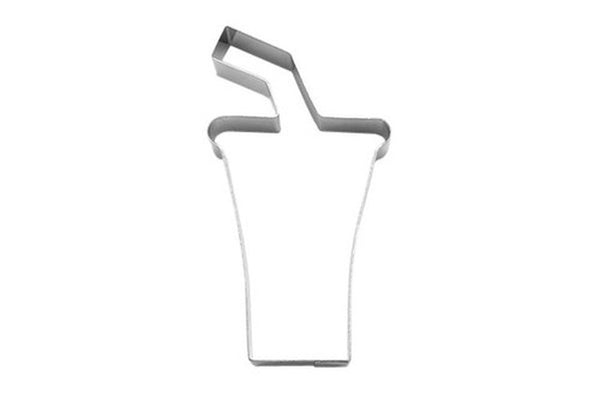 Cup with Straw 10cm Cookie Cutter-Cookie Cutter Shop Australia