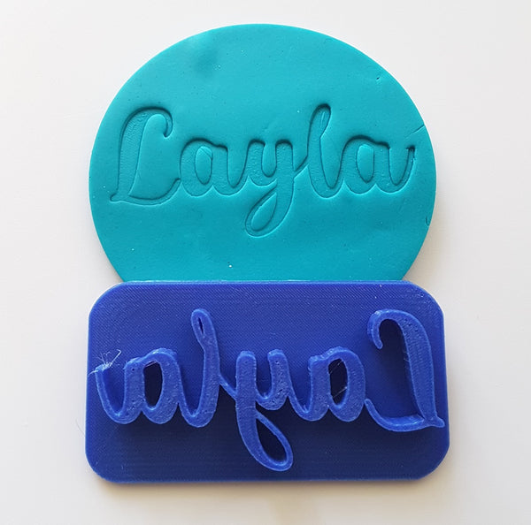 Fun Cursive Name CUSTOM Cookie Embosser-Cookie Cutter Shop Australia