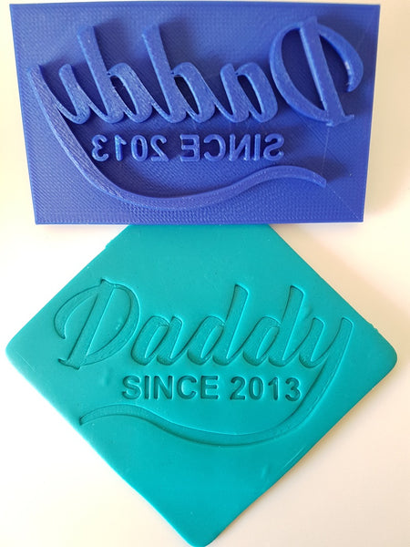 Daddy Since CUSTOM Cookie Embosser Stamp-Cookie Cutter Shop Australia