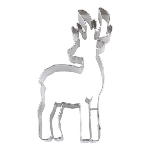 Deer with Antlers 10.5cm Cookie Cutter-Cookie Cutter Shop Australia