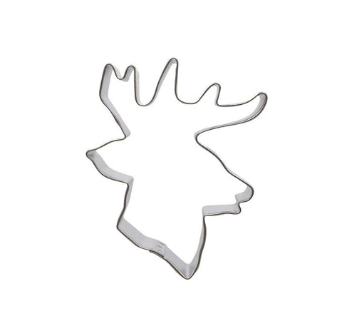 Deer Head 9.5cm Cookie Cutter-Cookie Cutter Shop Australia