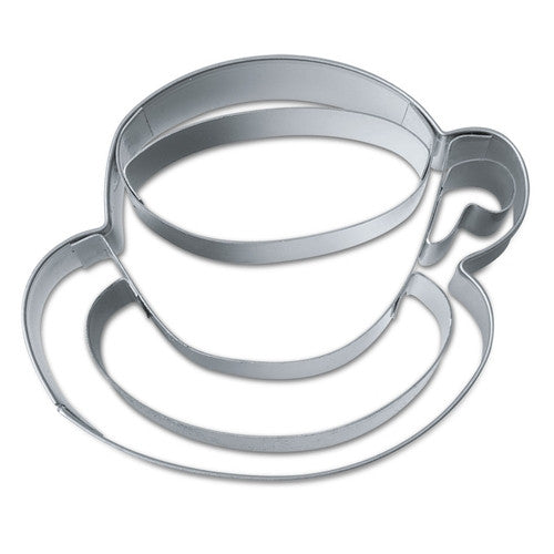 Teacup with Saucer 6.5cm Cookie Cutter-Cookie Cutter Shop Australia