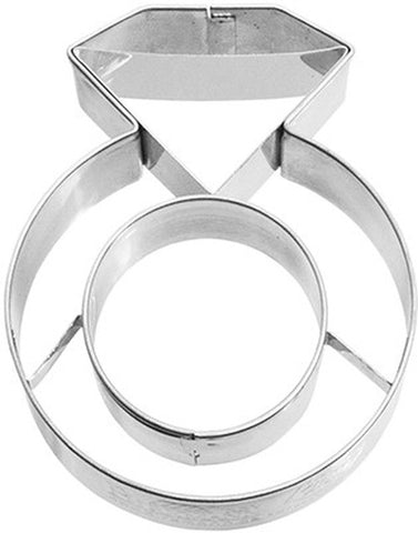 Diamond Ring with Internal Detailing 7cm Cookie Cutter-Cookie Cutter Shop Australia