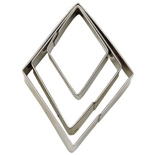 Diamond Set of 3 Cookie Cutters 3.2, 4.9 & 7cm-Cookie Cutter Shop Australia