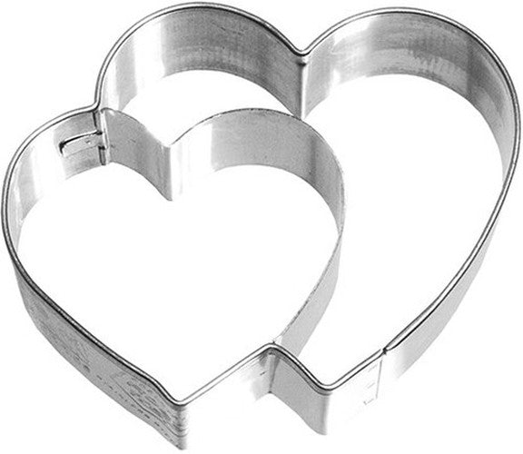 Double Heart 6.5cm Cookie Cutter-Cookie Cutter Shop Australia
