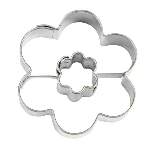 Double Flower 4.5cm Cookie Cutter-Cookie Cutter Shop Australia