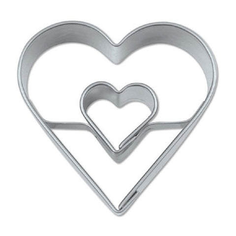 Double Heart 4cm Cookie Cutter-Cookie Cutter Shop Australia