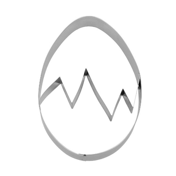Egg  Cookie Cutter with crackline | Cookie Cutter Shop