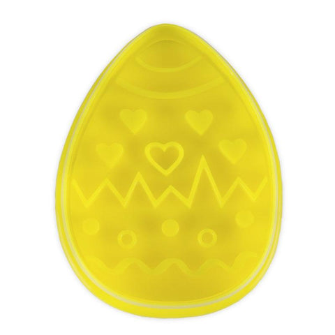Easter Egg Yellow 6.5cm Plastic Ejector Cookie Cutter