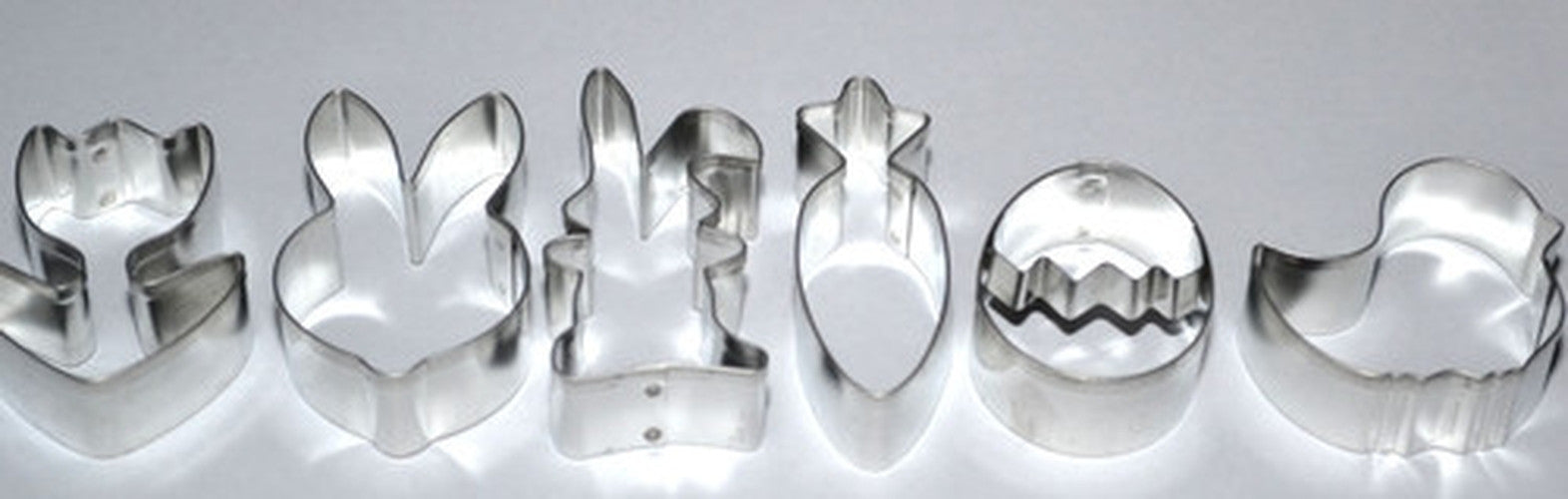Easter Set of 6 Cookie Cutters 4.5cm - 6.5cm-Cookie Cutter Shop Australia
