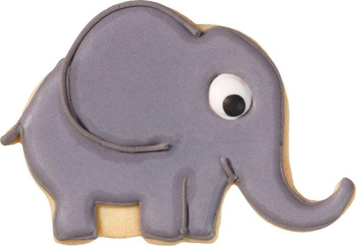 Elephant With Internal Detail 10.5cm Cookie Cutter-Cookie Cutter Shop Australia
