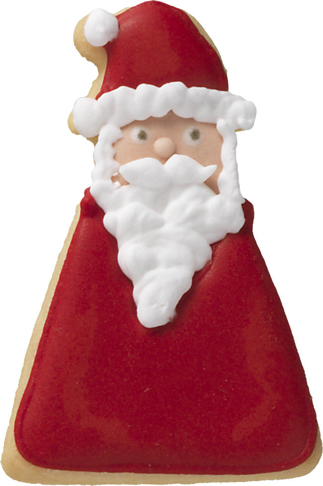 Father Christmas 6cm with Geometric Base Cookie Cutter-Cookie Cutter Shop Australia