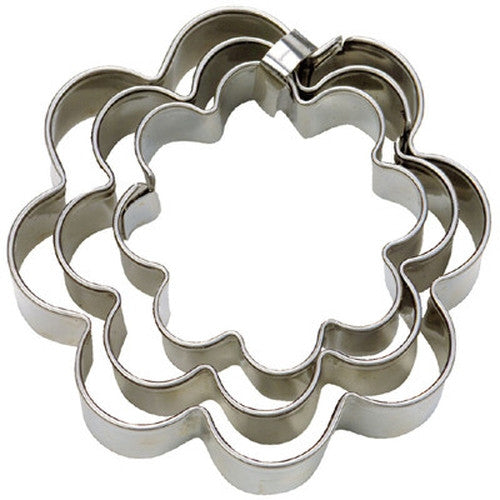 Flower Mini Set of 3 Cookie Cutters 3, 4, & 5cm-Cookie Cutter Shop Australia