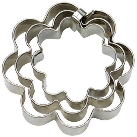 Flower Set of 3 Cookie Cutters 4, 5 & 6cm-Cookie Cutter Shop Australia