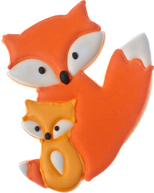 Mother and Baby Fox 11cm Cookie Cutter-Cookie Cutter Shop Australia