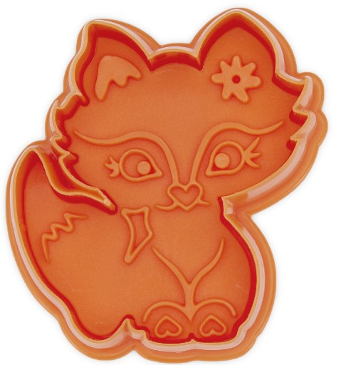 Fox Cookie Cutter Stamp with Ejector 6.5cm