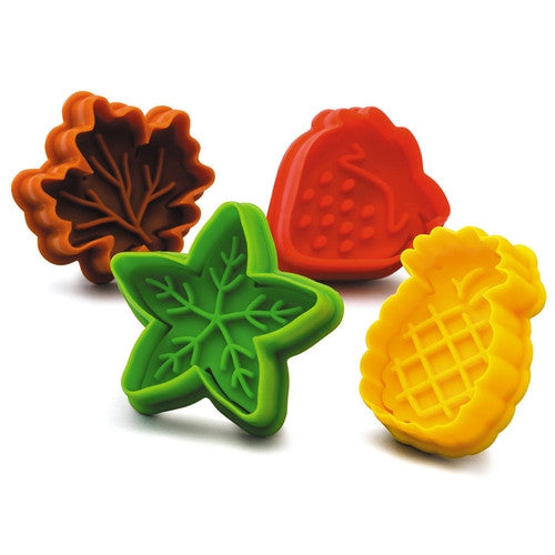 Fruit & Leaves Cookie Cutter and Stamper Set of 4-Cookie Cutter Shop Australia