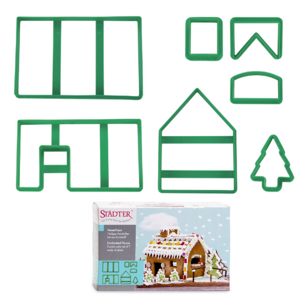 Gingerbread House Set of 7 Cookie Cutters 19cm-Cookie Cutter Shop Australia