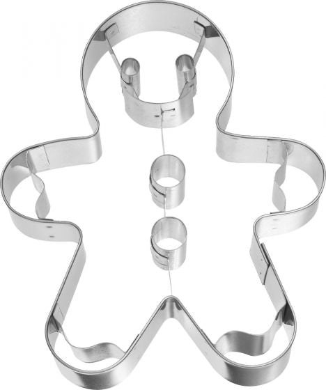 Gingerbread Man 12cm Cookie Cutter with Internal Detail-Cookie Cutter Shop Australia