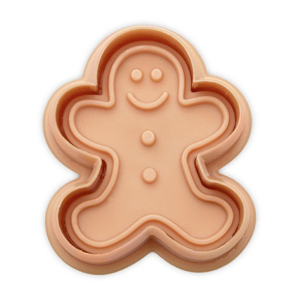 Gingerbread Man 5cm Plastic Embossed Cookie Cutter-Cookie Cutter Shop Australia