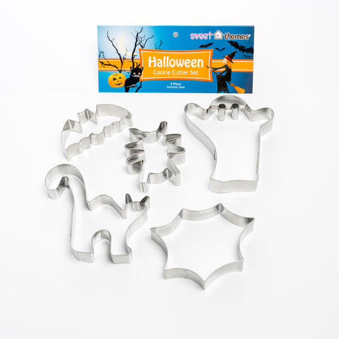 Halloween Set of 5 Cookie Cutters 3-11cm-Cookie Cutter Shop Australia