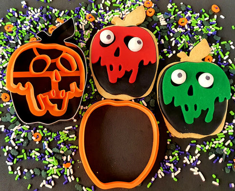 Halloween Apple Cookie & Fondant Cutter Set 3 Pieces | Cookie Cutter Shop Australia