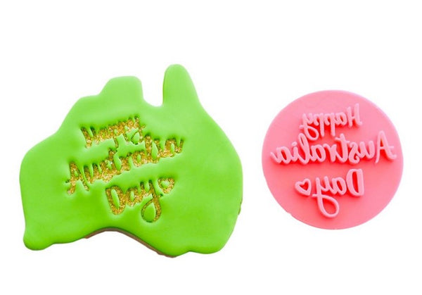 Australia Day Fondant Stamp 'Happy Australia Day'