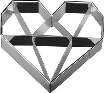 Heart Diamond 6.5cm Cookie Cutter-Cookie Cutter Shop Australia