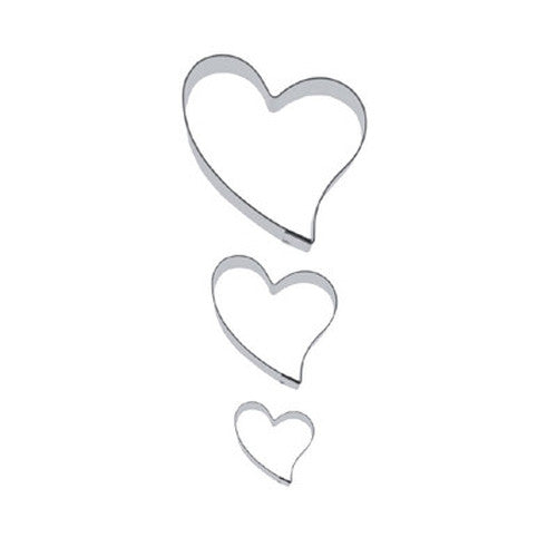 Heart Folk Style Set of 3 Cookie Cutters 3, 6 & 9cm-Cookie Cutter Shop Australia