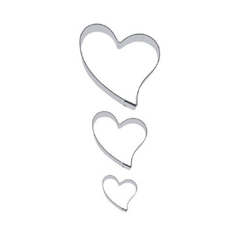 Heart Folk Style Set of 3 Cookie Cutters 3, 6 & 9cm | Cookie Cutter Shop Australia