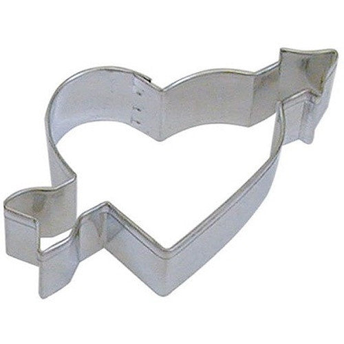 Heart With Arrow 10cm Cookie Cutter-Cookie Cutter Shop Australia