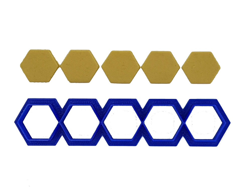 Hexagons In A Row 2cm Cookie Cutter