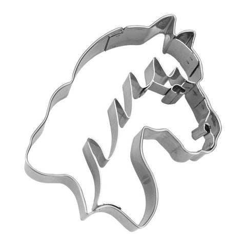 Horse Head With Internal Detail 8cm Cookie Cutter-Cookie Cutter Shop Australia