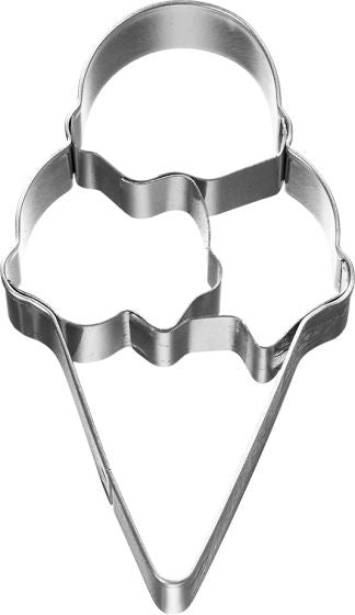 Ice Cream Cone With 3 Scoops 8cm Cookie Cutter-Cookie Cutter Shop Australia