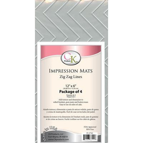Impression Mats Set 4 - Zig Zag Lines-Cookie Cutter Shop Australia