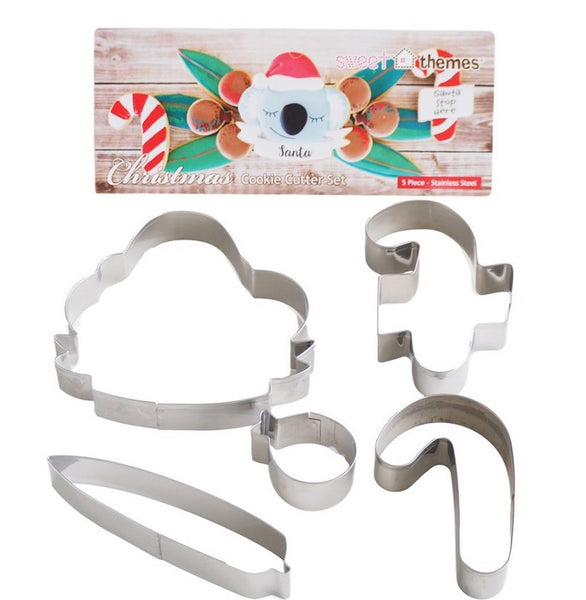 Australian Christmas Cookie Cutter Set 5 piece | Cookie Cutter Shop Australia