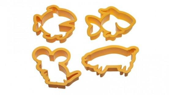 Land and Sea Set of 4 Animal Cookie Cutters-Cookie Cutter Shop Australia