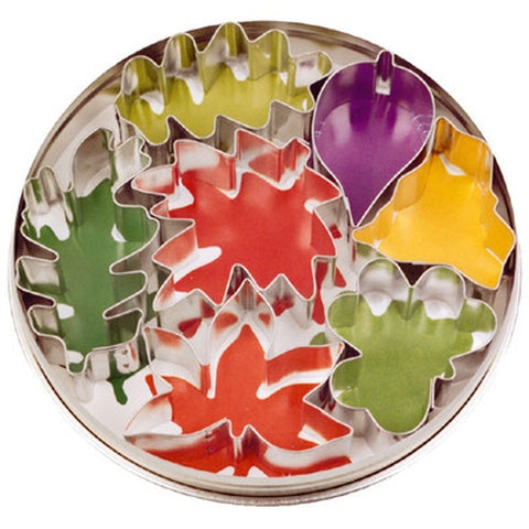 Leaf Set of 7 Cookie Cutters 3.5cm - 6.5cm-Cookie Cutter Shop Australia