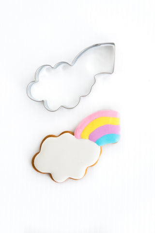 Cloud with Rainbow Burst 9.5cm Cookie Cutter-Cookie Cutter Shop Australia