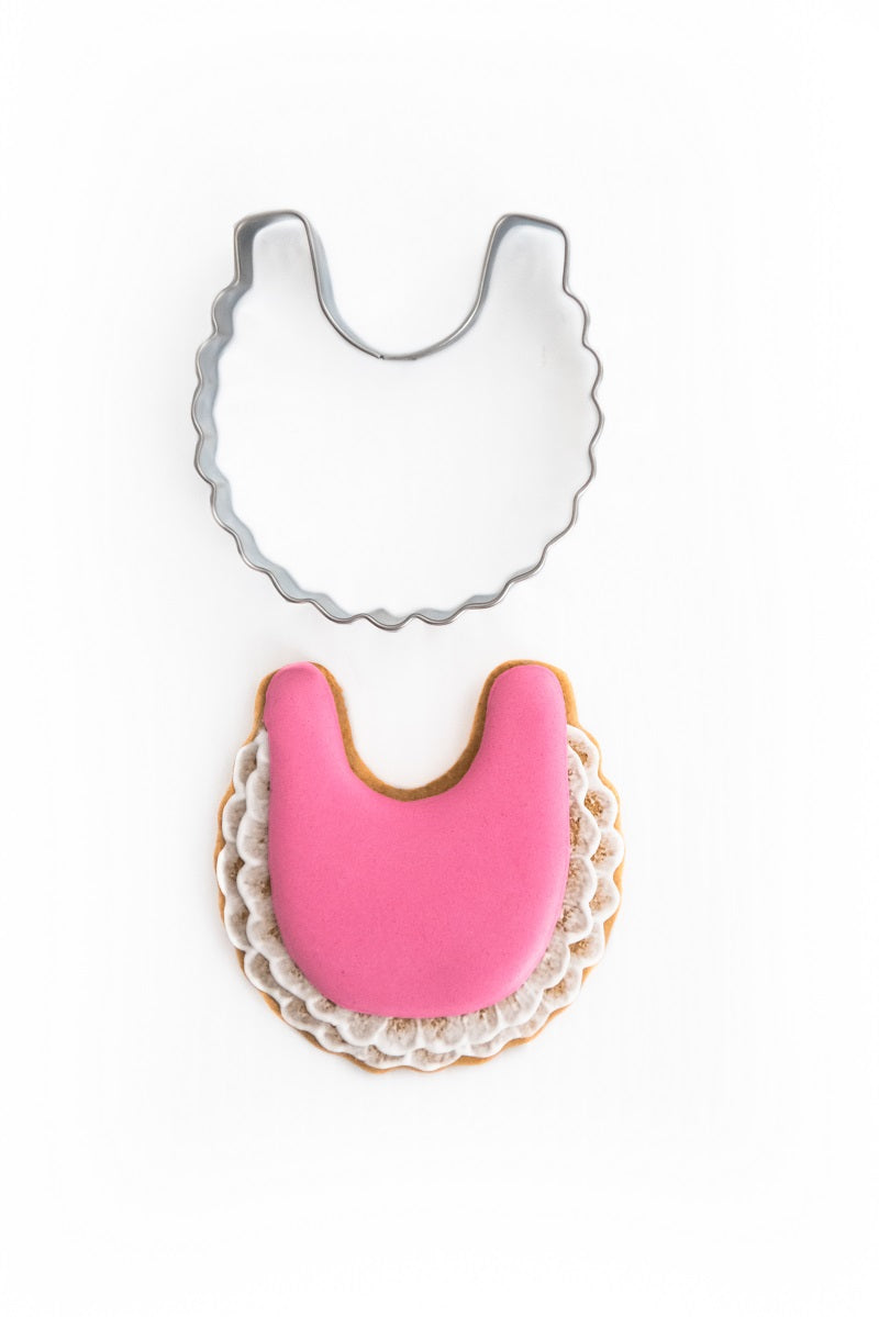 Frilly Bib 7cm Cookie Cutter-Cookie Cutter Shop Australia