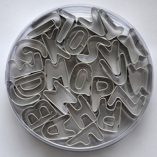Mini Alphabet Stainless Steel 2.5cm Set of 26 Cookie Cutters-Cookie Cutter Shop Australia