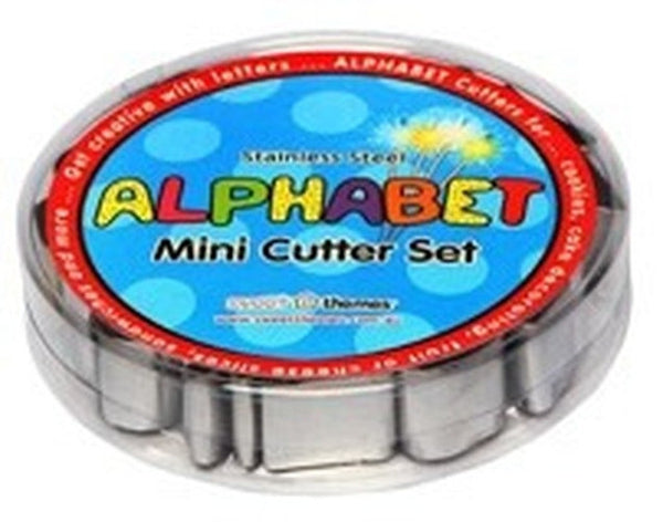 Mini Alphabet Set 26 Cookie Cutters Stainless Steel 2.5cm | Cookie Cutter Shop Australia