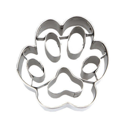 Mini Paw Print 4.5cm with Embossed Detail Cookie Cutter | Cookie Cutter Shop Australia
