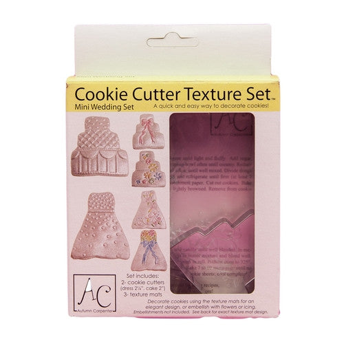 Mini Wedding Set - Cookie Cutter & Texture Mat Set-Cookie Cutter Shop Australia