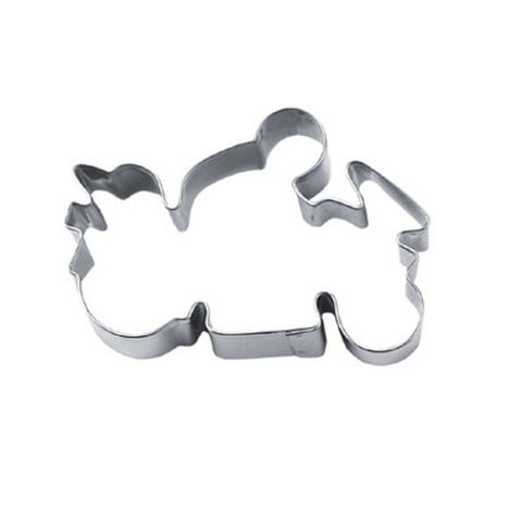 Motorbike with Racer 8.5cm Cookie Cutter-Cookie Cutter Shop Australia