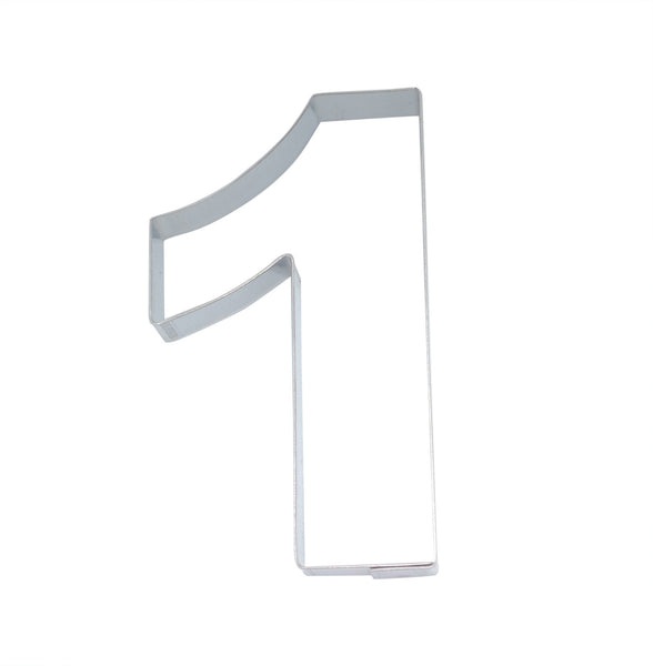 Number 1 7.5cm Cookie Cutter-Cookie Cutter Shop Australia