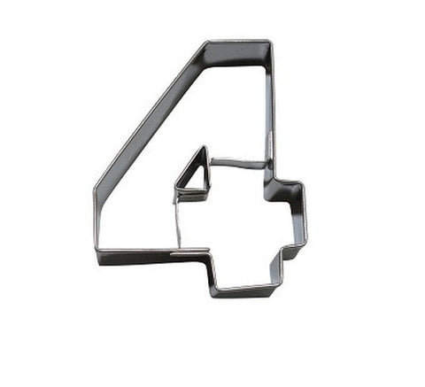 Number 4 6.5 cm Cookie Cutter Stainless Steel-Cookie Cutter Shop Australia