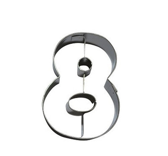Number 8 6.5 cm Cookie Cutter Stainless Steel-Cookie Cutter Shop Australia