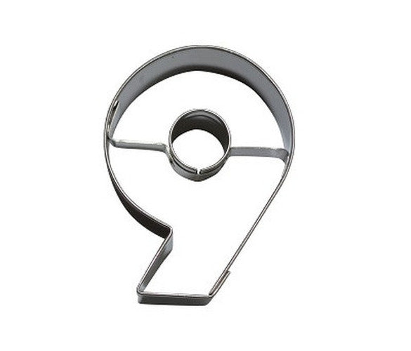 Number 6 or 9 6.5 cm Cookie Cutter Stainless Steel-Cookie Cutter Shop Australia