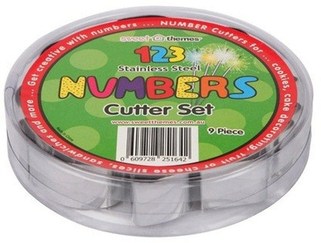 Numbers set of 9 Cookie Cutters 4.5cm high-Cookie Cutter Shop Australia
